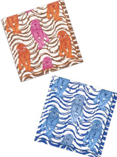 Load image into Gallery viewer, Caspari Tiger Stripe Paper Cocktail Napkins in Blue