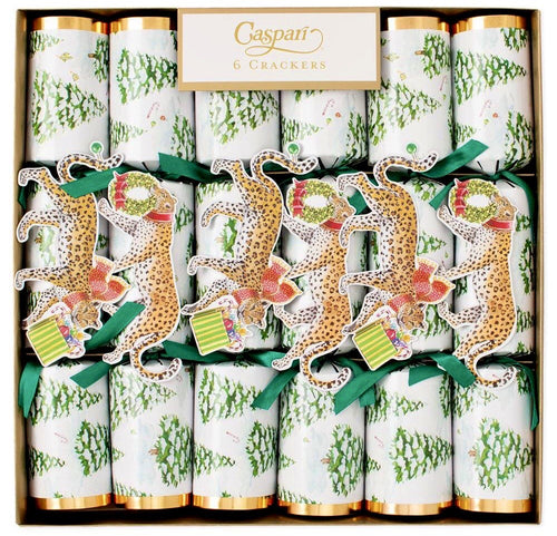 Holiday Crackers-Leopard in Snow