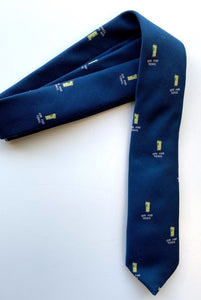 Fine and Dandy Blue Gin and Tonic Silk Tie