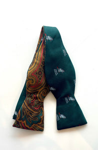 Fine and Dandy Eager Beaver & Paisley Reversible Bow Tie