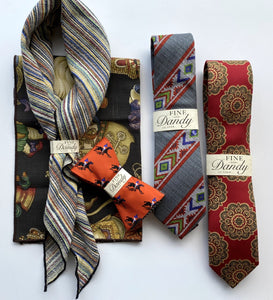 Fine and Dandy Aztec Print Silk Tie