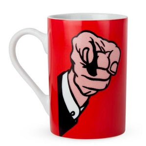 Lichtenstein Finger Pointing Mug