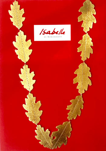Isabelle de Borchgrave Oak Leaf Necklace