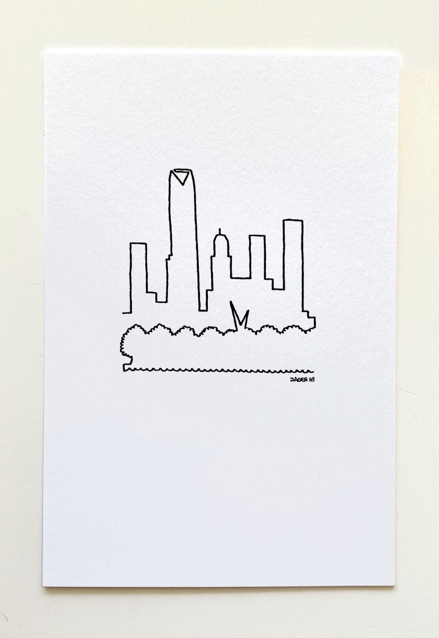 Arjan Jager OKC Skyline Post Card