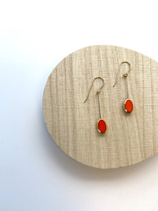 Kappos Red Oval Drop Earrings