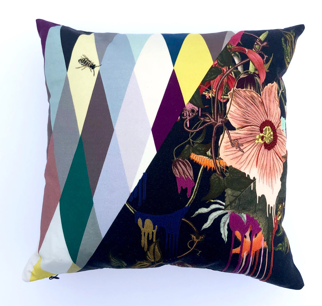 Christian Lacroix Orchid's Mascarade-Multicolor Pillow