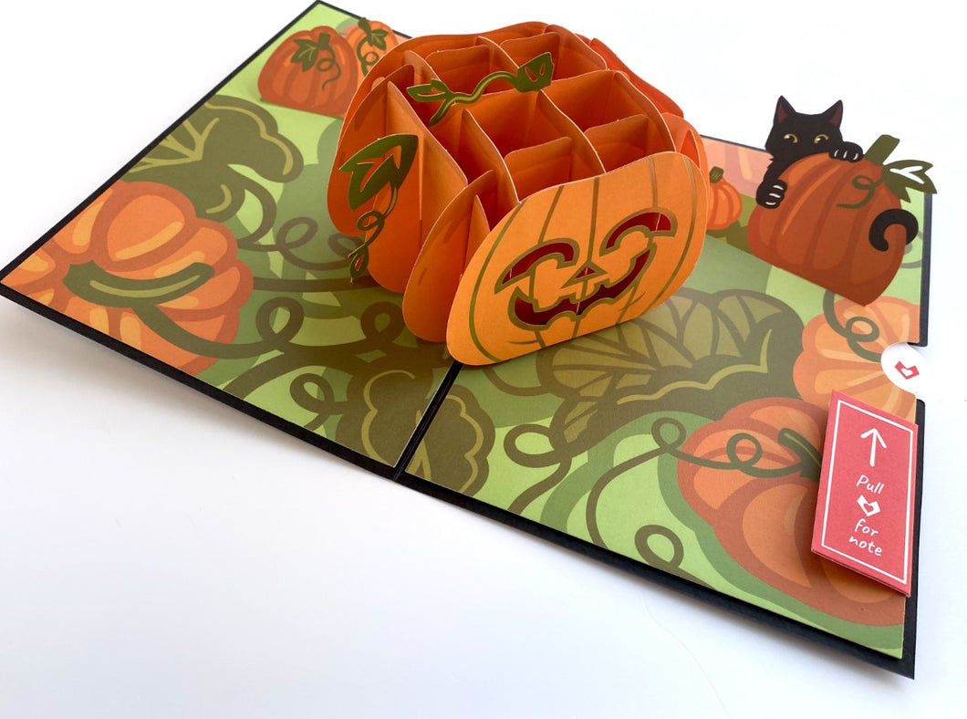 Love Pop Happy Halloween Pumpkin 3D card