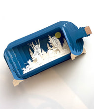 Load image into Gallery viewer, Message in a Bottle 3-D Pop Up Card- Owls