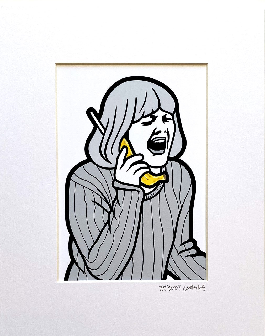Trevor Wayne Horror Banana Series Scream Print