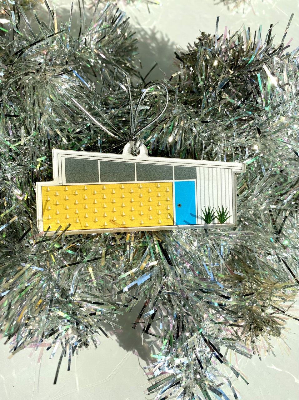 Acrylic Midcentury House Ornament- Wedge