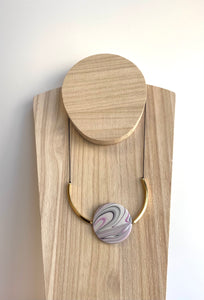 Kappos Pink Swirl Disk Necklace