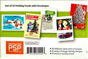 Retro Holiday Card Set