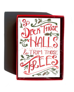 Deck Those Halls Holiday Notecard Set