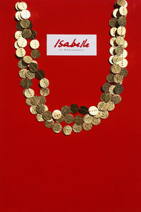 Isabelle de Borchgrave Three Ranks Coin Collar Necklace