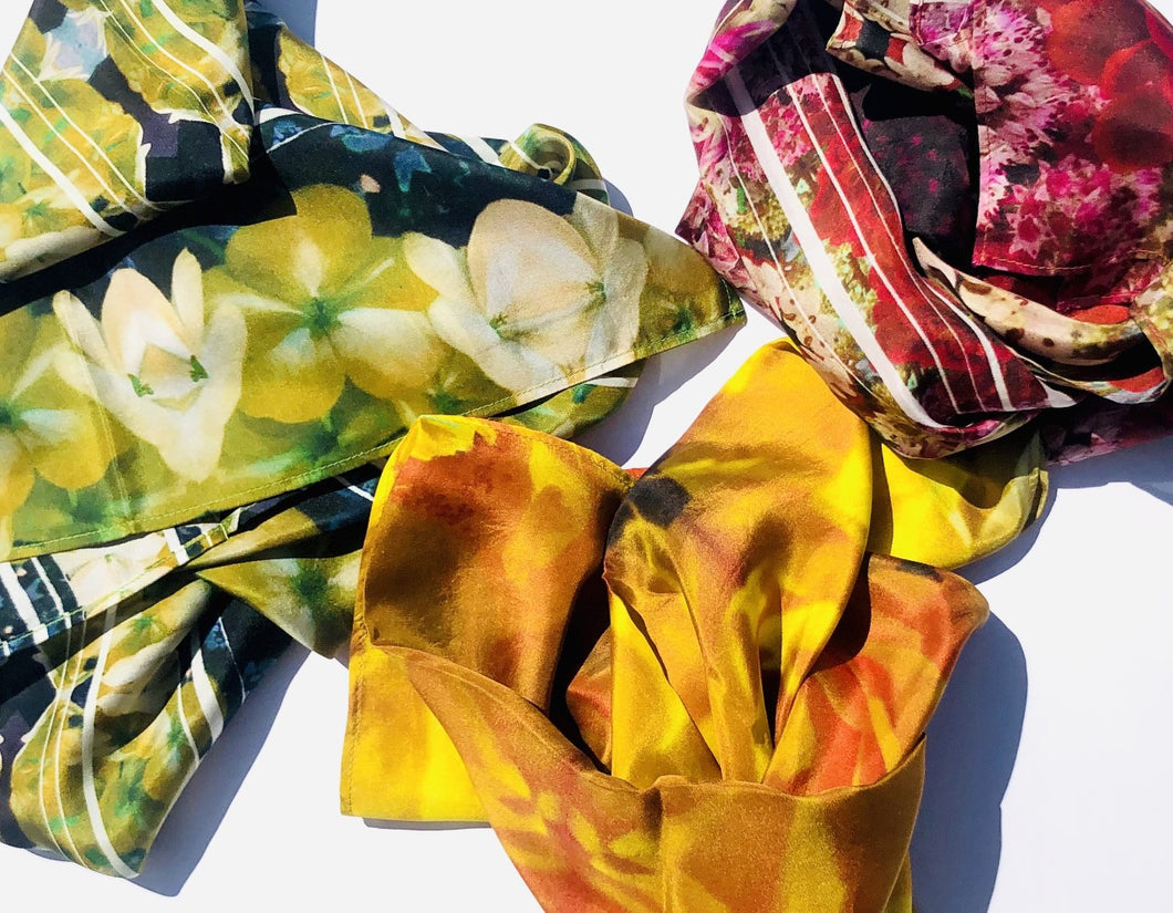 Floral Photography Silk Scarves