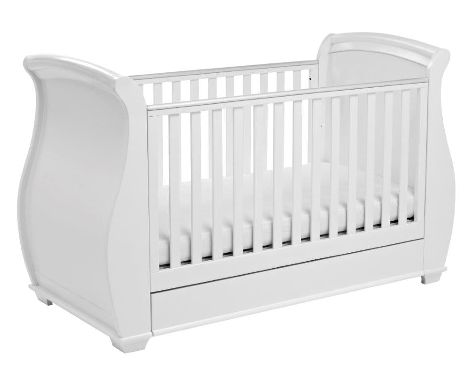 Babymore Bel Dropside Cot Bed - The Stork Has Landed