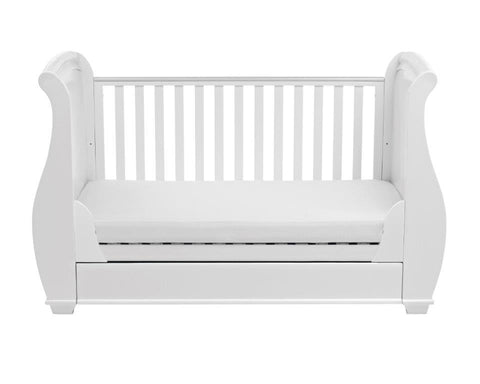 Image of Babymore Bel Dropside Cot Bed - The Stork Has Landed