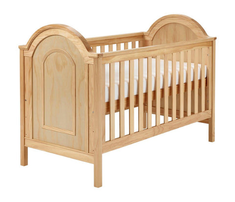 Image of Babymore Albert Cot Bed - Natural - The Stork Has Landed