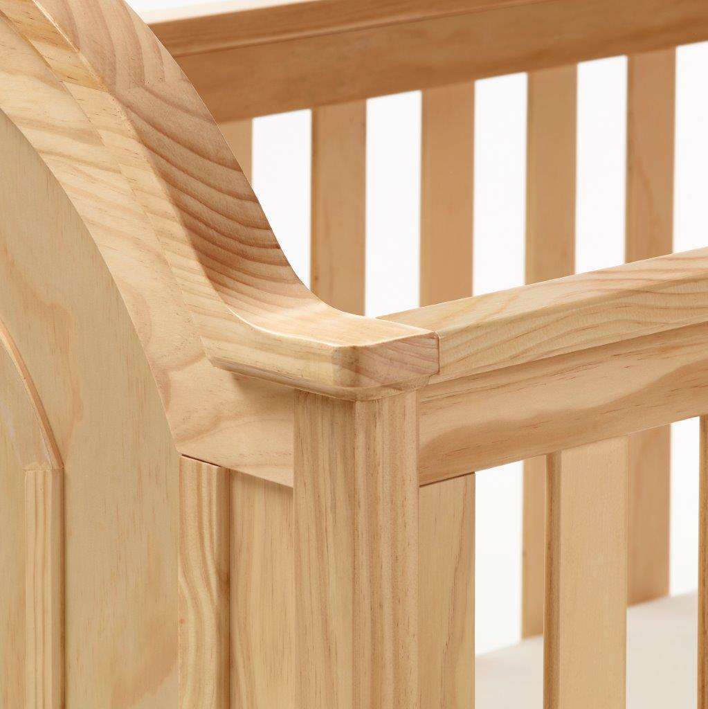 Babymore Albert Cot Bed - Natural - The Stork Has Landed