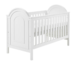 Babymore Albert Cot Bed - White - The Stork Has Landed