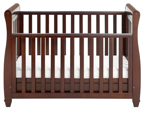 Babymore Eva Drop Side Cot Bed - Brown - The Stork Has Landed