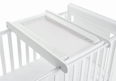 Image of Babymore Cot Top Changer - White - The Stork Has Landed