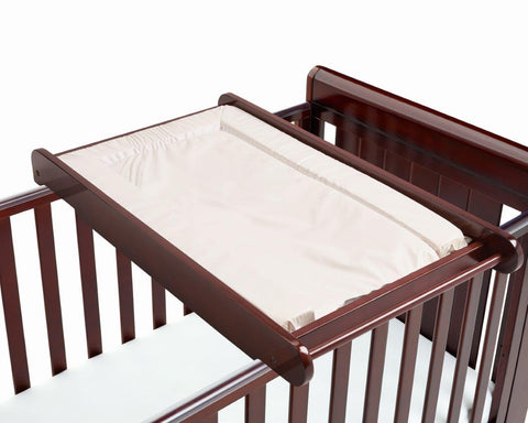 Image of Babymore Cot Top Changer - Brown - The Stork Has Landed