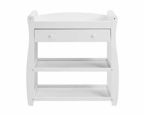 Babymore Sleigh Changer - White - The Stork Has Landed