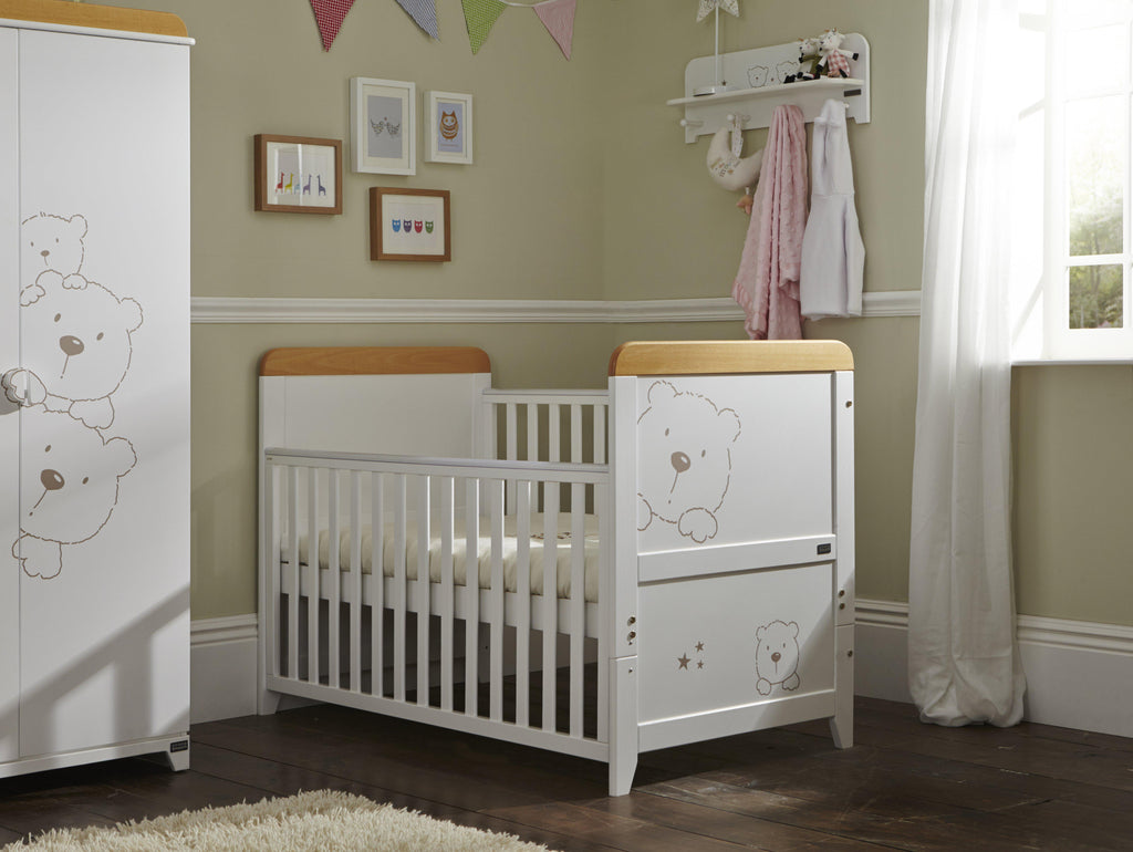Tutti Bambini - Bears 2 Piece Set with Sprung Mattress - The Stork Has Landed