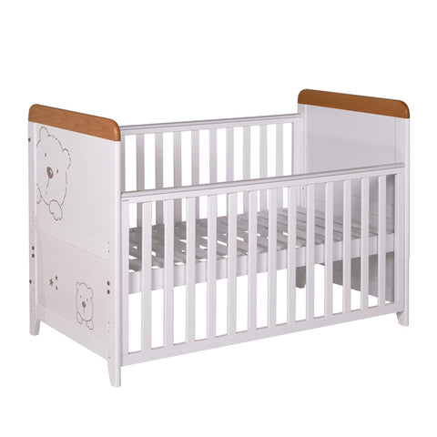 Tutti Bambini Bears Cot Bed with Sprung Mattress - The Stork Has Landed