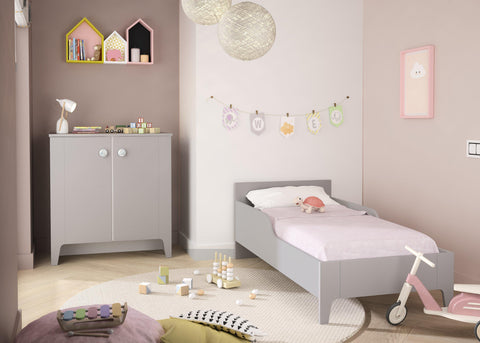 Image of Galipette Guimauve Compact Cot Bed - The Stork Has Landed