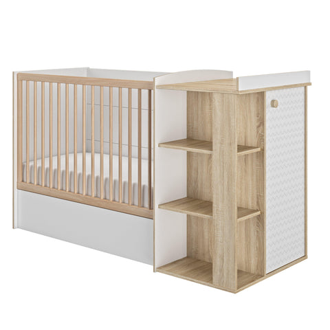 Image of Galipette Intimi Compact Cot Bed - The Stork Has Landed