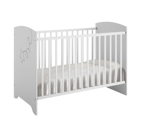 Image of Galipette Adele Cot Bed With Mattress - The Stork Has Landed