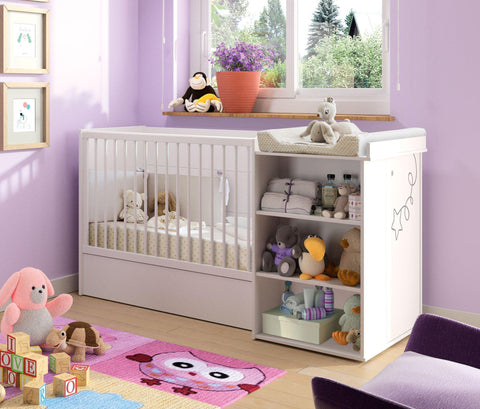 Image of Galipette Adele Compact Cot Bed - The Stork Has Landed