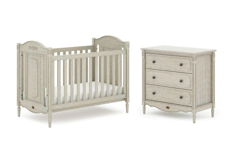 Boori Grace 2 Piece Set - Antiqued Grey - The Stork Has Landed