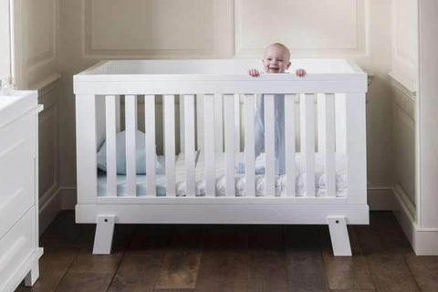 Boori Lucia Cot Bed - Barley White - The Stork Has Landed