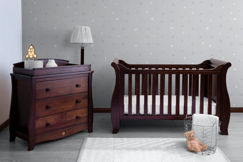 Boori Sleigh Cot bed - English Oak - The Stork Has Landed