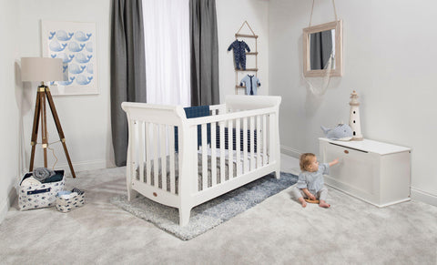 Boori Sleigh Expandable Cot Bed - Barley - The Stork Has Landed