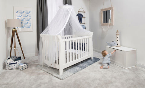 Image of Boori Sleigh Expandable Cot Bed - Barley