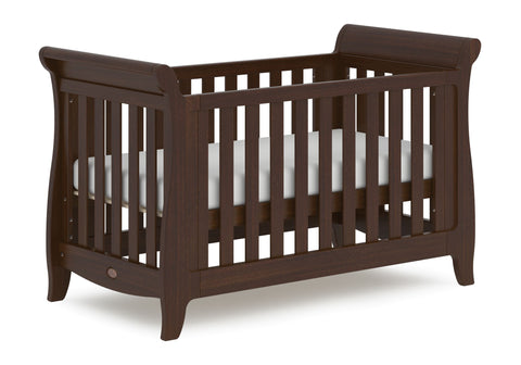 Boori Sleigh Expandable Cot Bed - Coffee - The Stork Has Landed