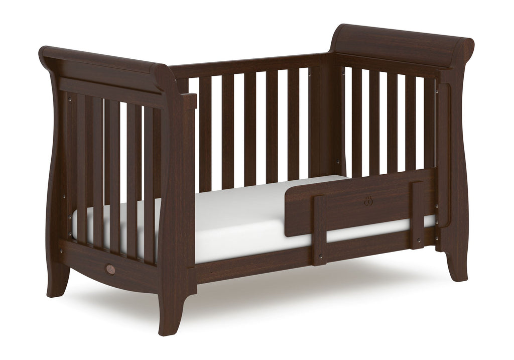 Boori Sleigh Expandable Cot Bed - Coffee