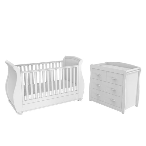 Image of Babymore Bel 3 Piece Nursery Set - White - The Stork Has Landed