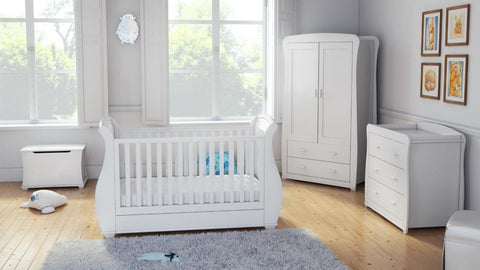 Image of Babymore Bel 5 Piece Room Set - White - The Stork Has Landed