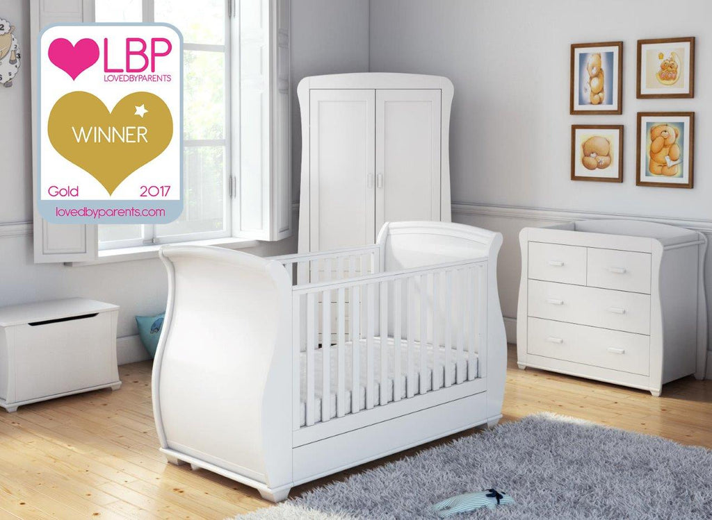 Babymore Bel 5 Piece Room Set - White - The Stork Has Landed