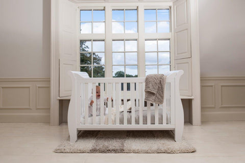 Boori Sleigh Cot bed - White - The Stork Has Landed