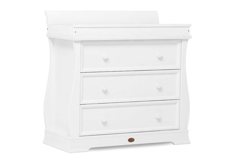 Image of Boori Sleigh 3 Drawer Dresser - White - The Stork Has Landed