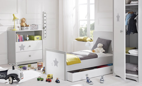 Image of Galipette Sweet Nights Cot Bed (70x140cm) - The Stork Has Landed