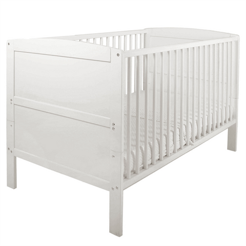 East Coast - Hudson Cot Bed, White - The Stork Has Landed