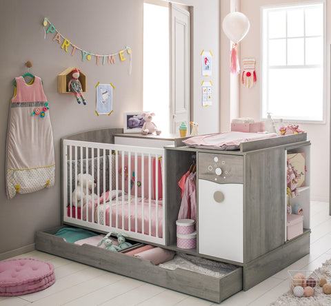 Image of Galipette Gaia Compact Cot Bed - The Stork Has Landed