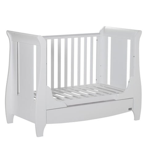 Image of Tutti Bambini - Katie Cot Bed, White with Sprung Mattress - The Stork Has Landed